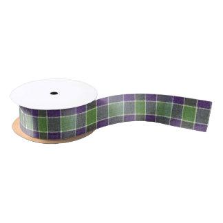 Ruban En Satin Texture verte et pourpre de tissu de laine de