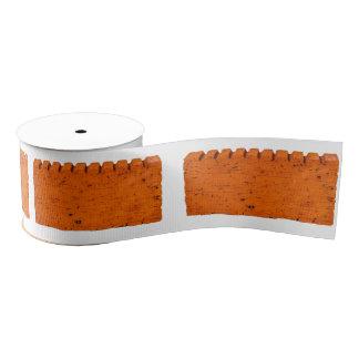 Ruban Gros-grain Brique orange - atome de création