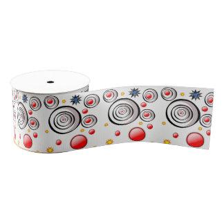 Ruban Gros-grain cercles décoratifs d'abrégé sur ruban