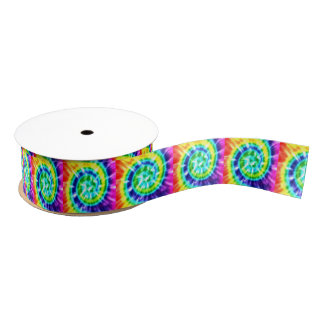 Ruban Gros-grain Colorant Boho coloré de cravate de paix de hippie