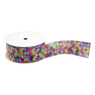 Ruban Gros-grain Coloré coloré dans des carrés de papier de