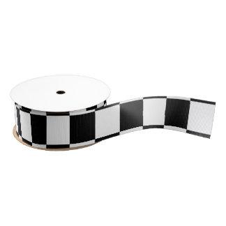 Ruban Gros-grain Damier noir et blanc