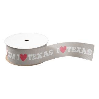 Ruban Gros-grain I ruban du Texas de coeur - lettres blanches