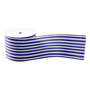 Ruban Gros-grain Ruban rayé bleu et blanc