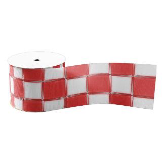 Ruban Gros-grain Ruban rouge et blanc de gros-grain de contrôle de