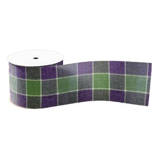 Ruban Gros-grain Texture verte et pourpre de tissu de laine de