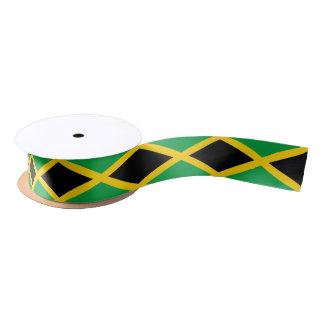 Ruban jamaïcain de drapeau ruban en satin