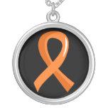 Ruban orange 3 de sclérose en plaques pendentif personnalisé
