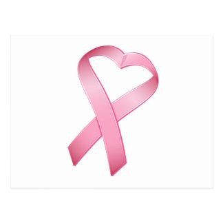 Ruban rose de Cancer de coeur Carte Postale