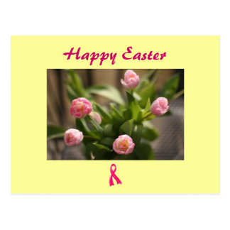 Ruban rose heureux de Pâques Carte Postale