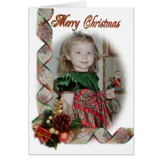 Rubans élégants de carte photo de Noël