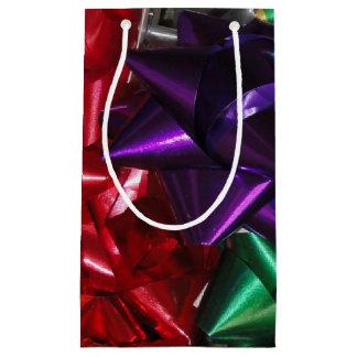Rubans et Noël d'arcs Petit Sac Cadeau