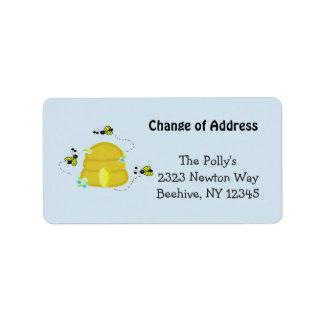 Ruche occupée notre adresse étiquette d'adresse