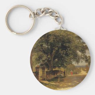 Rue à Nassau par Albert Bierstadt Porte-clés