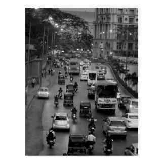Rue de B&W Mumbai Carte Postale