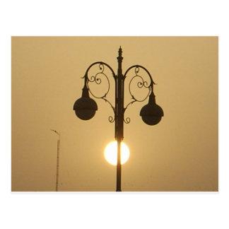 Rue victorienne vintage light.png de coucher du carte postale