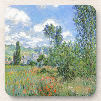 Ruelle dans les domaines de pavot - Claude Monet Sous-bock