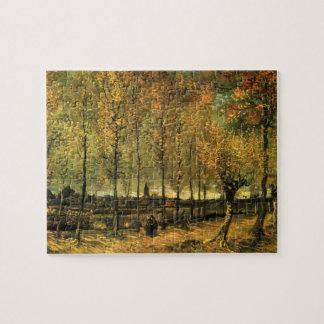 Ruelle de Van Gogh avec des peupliers, beaux-arts Puzzle