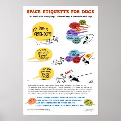 Ruimte etiquette voor het poster van honden 22 x zazzle - Ruimte van het meisje parket ...