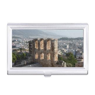Ruines antiques d'Acropole donnant sur Athènes Porte-cartes De Visite