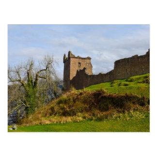 Ruines de château d'Urquhart le long de Loch Ness, Carte Postale