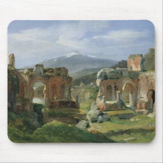 Ruines du théâtre chez Taormina Tapis De Souris