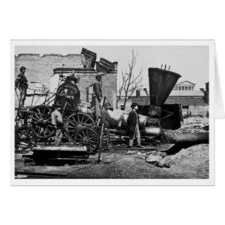 Ruines Richmond VA de Richmond et de Pétersbourg Carte