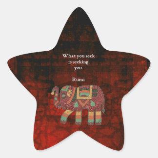 Rumi inspiré ce qui vous cherchez la citation sticker étoile