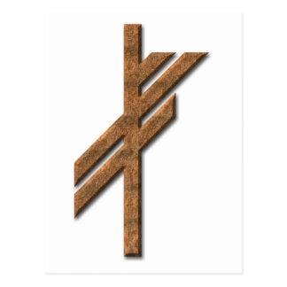 Rune de Viking - chance - rouille Carte Postale