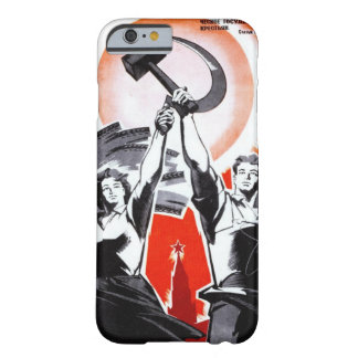 Russische Vintage Propaganda Barely There iPhone 6 Hoesje