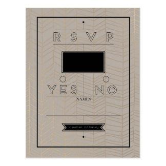 Rustieke Moderne Kaart RSVP