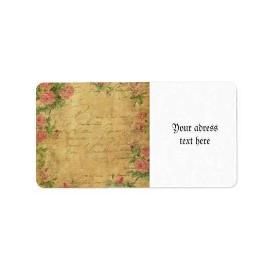 Rustique, grunge, de papier, vintage, floral, étiquettes d'adresse