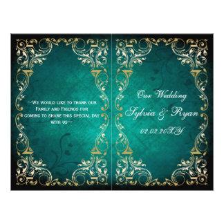 Rustique, programme majestueux de mariage de prospectus