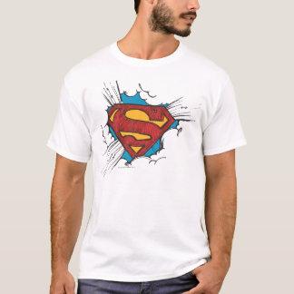S-Bouclier   de Superman dans le logo de nuages T-shirt