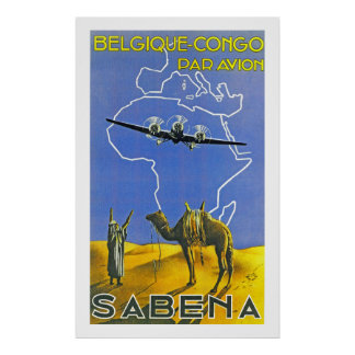 SABENA ~ Belgique de Kongo Poster