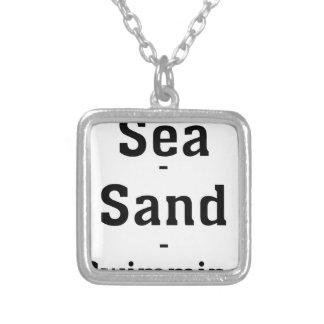Sable de mer - natation colliers