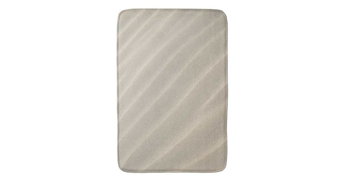 sable onduleux de plage grand tapis de bain zazzle. Black Bedroom Furniture Sets. Home Design Ideas
