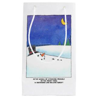 Sac à la dérive de cadeau de bonhomme de neige