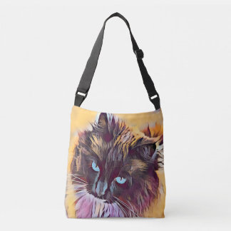 Sac à main crossbody de beau chat de Ragdoll