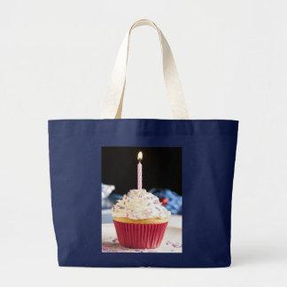 Sac à provisions de tissu de joyeux anniversaire