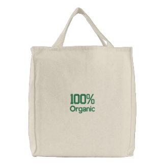 Sac à provisions organique de 100 pour cent