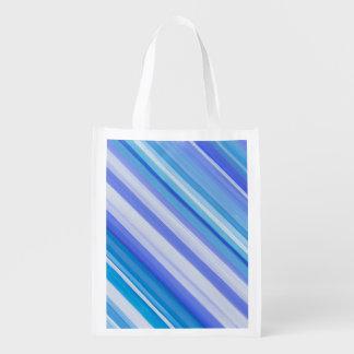Sac à provisions rayé sac réutilisable