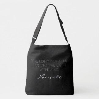 Sac Ajustable Amour inspiré de Namaste de typographie blanche