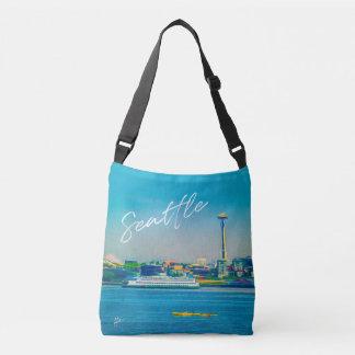 Sac Ajustable Aquarelle moderne d'horizon de Seattle unique