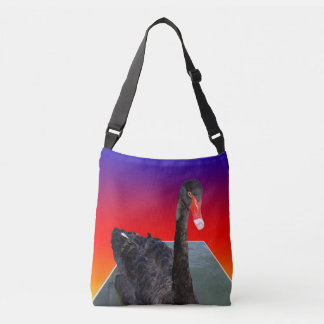 Sac Ajustable Black_Swan, _Rainbow_Popout_Art, _Cross_Body_Bag