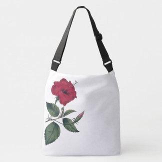 Sac Ajustable Fleur botanique rouge simple de ketmie