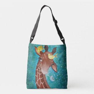 Sac Ajustable Girafe mignonne avec la peinture d'oiseaux