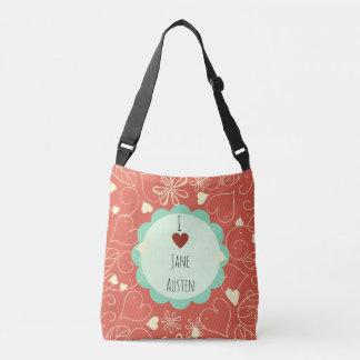 Sac Ajustable J'aime le motif orange de Jane Austen