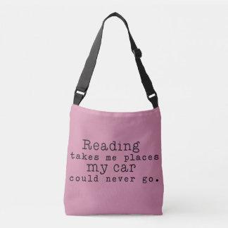 Sac Ajustable La lecture me prend des endroits