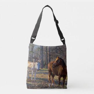 Sac Ajustable Meilleurs amis cheval et âne Crossbody et
